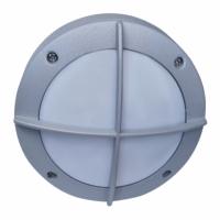 Св-к Ecola B4143S матов.круг с решеткой, серый алюм. IP65 Распродажа!!!