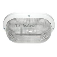 Св-к Ecola ДПП 03-9-002 овал накл. белый прозрач. IP65