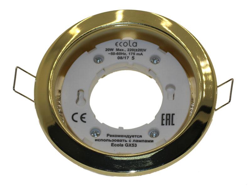 Светильник Ecola GX53 Н4 золото
