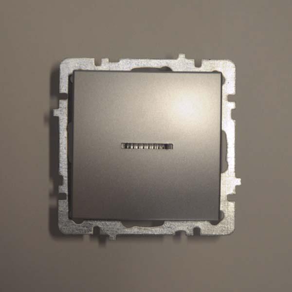 Nilson Touran серебро механизм выключатель 1кл+ свет