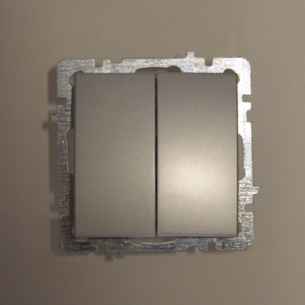 Nilson Touran серебро механизм выключатель 2кл