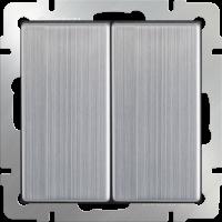 WERKEL Выключатель 2-кл. проходной (глянцевый никель) WL02-SW-2G-2W