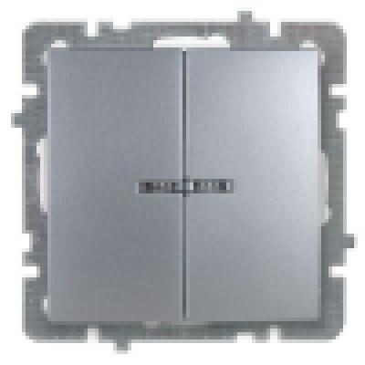 Nilson Touran серебро механизм выключатель 2кл + свет