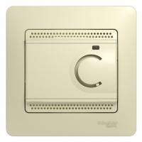 Термостат тепл. пола GLOSSA с датч. беж.