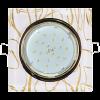 Светильник Ecola GX53 H4 стекло квадрат золото на белом