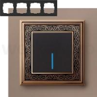 WERKEL Palacio Рамка на 4 поста (золото/черный)