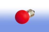 Лампа светодиодная E27  1Вт Шар LDS mini Comtech красный
