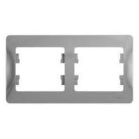 SchE GLOSSA алюминий рамка 2-м. гориз.