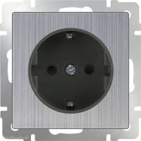 WERKEL Розетка влагозащит. с/з, з/ш (глянцевый никель) WL02-SKGS-01-IP44