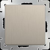 WERKEL Выключатель 1-кл. проходной (шампань рифленый) WL10-SW-1G-2W