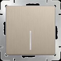 WERKEL Выключатель 1-кл. с подсветкой (шампань рифленый) WL10-SW-1G-LED