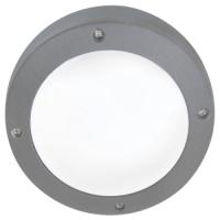 Св-к Ecola B4139S матов.круг серый алюм.145х145х65 IP65 Распродажа!!!