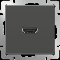 WERKEL Розетка HDMI (серо-коричневый)
