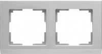 WERKEL STARK Рамка на 2 поста (серебряный) WL04-Frame-02