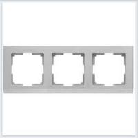 WERKEL STARK Рамка на 3 поста (серебряный)