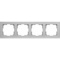 WERKEL STARK Рамка на 4 поста (серебряный) WL04-Frame-04