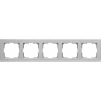 WERKEL STARK Рамка на 5 постов (серебряный) WL04-Frame-05