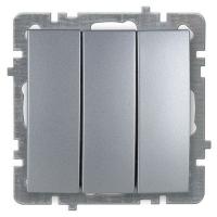 Nilson Touran серебро механизм выключатель 3кл