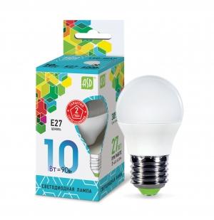 Лампа светодиодная ASD E27  10Вт шар standard 4000К 900Лм