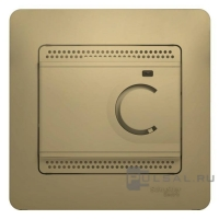 Термостат тепл. пола GLOSSA с датч. титан