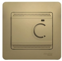 Термостат тепл. пола GLOSSA с датч. дуб
