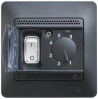 SchE GLOSSA антрацит термостат тепл. пола с датч.