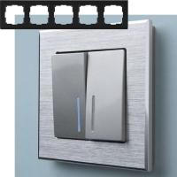WERKEL Aluminium Рамка на 5 постов (алюминий)