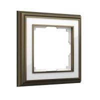 WERKEL Palacio Рамка на 1 пост (бронза/белый) WL17-Frame-01