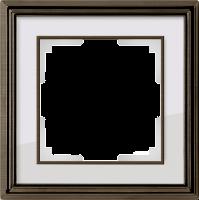 WERKEL Palacio Рамка на 1 пост (бронза/белый)