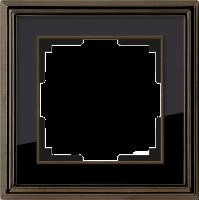 WERKEL Palacio Рамка на 1 пост (бронза/черный)