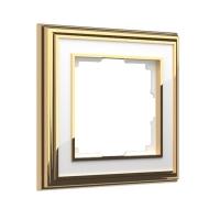 WERKEL Palacio Рамка на 1 пост (золото/белый)