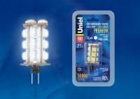Лампа светодиодная G4 12V 0,8Вт Uniel 6500K