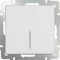 WERKEL Выключатель 1-кл. проходной с подсветкой (белый)