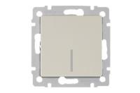 WERKEL Выключатель 1-кл. проходной с подсветкой (слоновая кость) WL03-SW-1G-2W-LED-ivory
