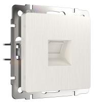 WERKEL Розетка Ethernet RJ-45 (перламутр рифленый)