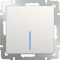WERKEL Выключатель 1-кл. с подсветкой (перламутр рифленый) WL13-SW-1G-LED