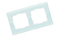 WERKEL FAVORIT Рамка на 2 поста (белый, стекло) WL01-Frame-02