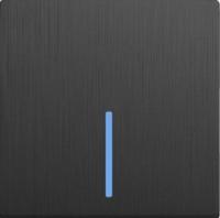 WERKEL Выключатель 1-кл. с подсветкой (графит рифленый) WL04-SW-1G-LED