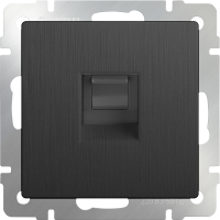 WERKEL Розетка Ethernet RJ-45 (графит рифленый) WL04-RJ-45