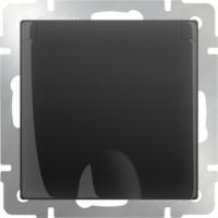 WERKEL Розетка влагозащит. с/з, з/ш, з/к, графит рифленый) WL04-SKGSC-01-IP44