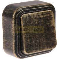 Выключатель 1-кл БелТИЗ патина чернёная под бронзу