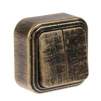 Выключатель 2-кл БелТИЗ патина чернёная под бронзу