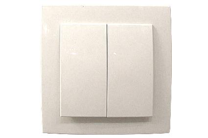 Nilson Touran белый выкл. 2-кл. 10А