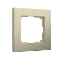 WERKEL FLOCK Рамка на 1 пост (слоновая кость) WL05-Frame-01-white