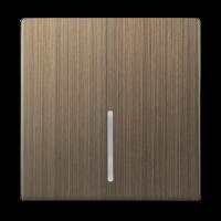 WERKEL Клавиша для выключателя с подсв. (бронза) WL12-SW-1G-LED-CP