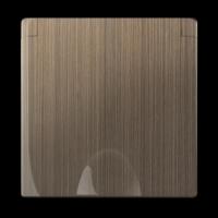 WERKEL Накладка для розетки IP44 с крышкой (бронза) WL12-SKGSC-IP44-CP