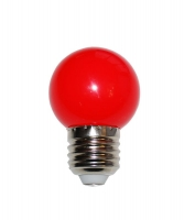 Лампа светодиодная E27  4Вт Ecola шар G45 красный матов. 77х45
