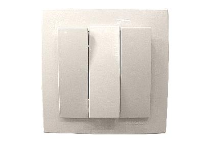 Nilson Touran белый выкл. 3-кл. 10А