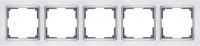 WERKEL SNABB Рамка на 5 постов (слоновая кость/хром) WL03-Frame-05