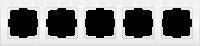 WERKEL FLOCK Рамка на 5 постов (белая) WL05-Frame-05-white
